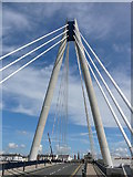 SD3317 : New road bridge across Marine Lake, Southport. by Colin Park
