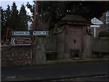NT8937 : Commemorative fountain in Branxton by Stanley Howe