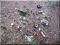 SJ8151 : Fly tipping on old railway line by Stephen Craven