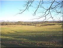 SH3434 : Farmland and woodland north of Gellidara by Eric Jones