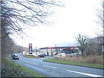 SH5638 : Texaco Service Station, Penamser Road by Eric Jones