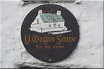 SH1726 : Plac ar y Gegin Fawr - Plaque on y Gegin Fawr by Alan Fryer