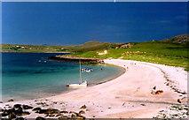 NB9711 : The shell-sand beach on Isle Ristol, Summer Isles by John Hughes