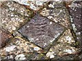 SN7465 : Decorated medieval floor tiles at Strata Florida abbey by Rudi Winter