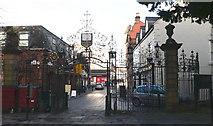SJ3350 : Church Gates, St Giles Parish Church, Wrexham by Eirian Evans