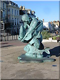 TR3752 : Sculpture at the entrance to Deal pier by Nick Smith