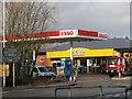 SU3522 : Esso service station on the Stockbridge Road by Rosemary Oakeshott