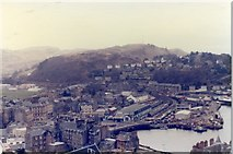 NM8529 : Oban - McCaig's Tower view of Station and Harbour by Alan Heardman