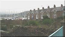 SH5873 : Glandwr Terrace and Dickies Yard by Eric Jones