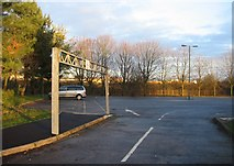 SU6252 : Winklebury playing fields car park entrance by Given Up