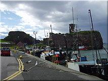 NT6779 : Victoria Harbour and castle, Dunbar, East Lothian, Scotland by James Denham
