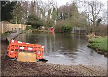 SU7251 : River Whitewater ford - Warnborough Green by Sandy B