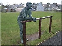 NX3343 : Sculpture in Port William by Nick Mutton