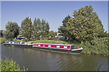 TL4097 : Narrowboats on the River Nene (old Course) by dennis smith