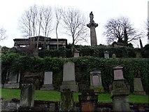 NS6065 : Gravestones in the Glasgow Necropolis by Stephen Sweeney