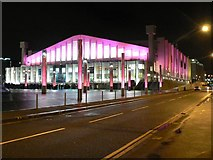 TQ1985 : Wembley Arena: floodlit in pink by Chris Downer