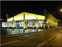 TQ1985 : Wembley Arena: floodlit in yellow by Chris Downer