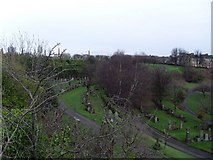 NS6065 : View across the eastern half of the Necropolis by Stephen Sweeney