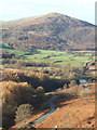 SD2091 : Duddon Valley and lane from path above Stonestar by Andrew Hill