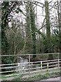 TG1311 : River Tud with footbridge across it by Evelyn Simak