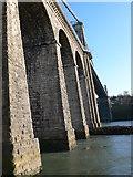 SH5571 : Telford's Suspension Bridge by Eirian Evans