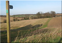 TM1453 : Footpath north of Hemingstone church by Andrew Hill