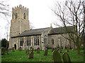 TG0207 : St Margaret's church in Garveston by Evelyn Simak