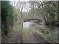 SO4186 : River Onny : Footbridge & ford by Row17