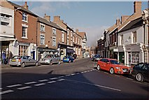 SK3825 : Derby Road from the Market Place, Melbourne by Jerry Evans