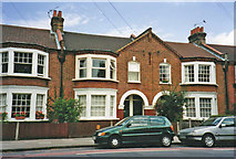 TQ2672 : Terrace of Maisonettes in Burntwood Lane, SW17 by Christine Matthews