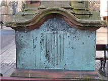 NY9364 : Coat of arms on the east side of the Temperley Memorial Fountain, Market Place by Mike Quinn