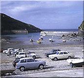 SW9980 : Beach parking at Port Isaac by Trevor Rickard
