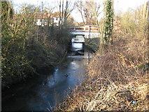 TQ2172 : Beverley Brook at Beverley Bridge by Nigel Cox