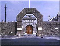 SX5874 : Dartmoor Prison front door by Trevor Rickard