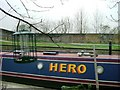 TQ2382 : Houseboat on the Grand Union Canal, W10 by Phillip Perry