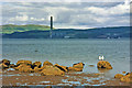 NS1469 : Firth of Clyde from beach at Innellan, Cowal Peninsula by Christine Matthews