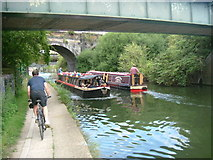 TQ2182 : Traffic jam on the canal by Phillip Perry