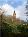 NS5666 : Tower of Glasgow University Old Building by Stephen Sweeney