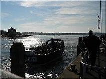 SZ1891 : Mudeford: ferry arriving by Chris Downer