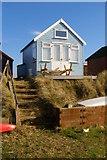 SZ1891 : Beach hut, Mudeford Spit by Jim Champion