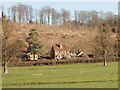 SU7887 : Houses between Hambleden and Pheasant's Hill by David Hawgood