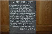 SH1726 : Cerdd R  S Thomas Eglwys Hywyn Sant A Poem by R S Thomas by Alan Fryer