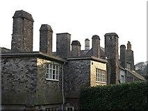 SX7962 : Chimneys, Dartington Hall by Derek Harper