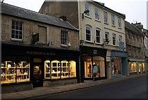 SP0202 : Shops, Dyer Street, Cirencester by Derek Harper