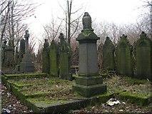 SE0724 : Graveyard - Skircoat Moor Road, Halifax by Betty Longbottom