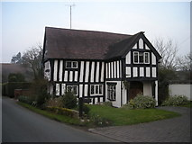 SO7598 : Half-timbered house at Stableford by Row17
