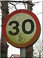 TL9499 : Graffiti on traffic sign by Evelyn Simak
