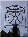 TL4058 : Coton Village Sign - detail by Keith Edkins