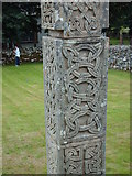 NH4591 : Celtic carvings in Croick Churchyard by Lynn M Reid