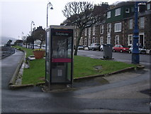 NS0964 : Telephone kiosk at harbour car park, Rothesay by Nick Mutton